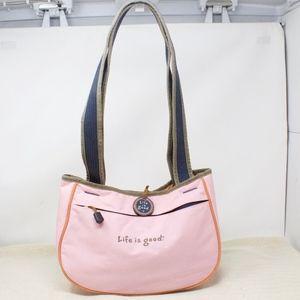 Life Is Good Pink Shoulder Bag Purse Handbag